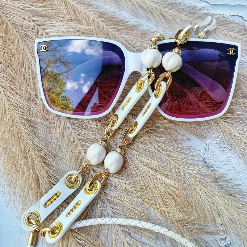 """Glasses Chain """"Leather Drops"""""""