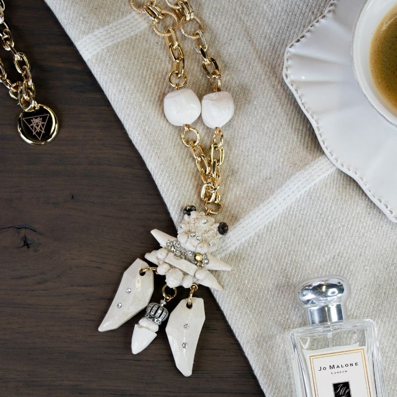 """Necklace """" White Queen"""""""