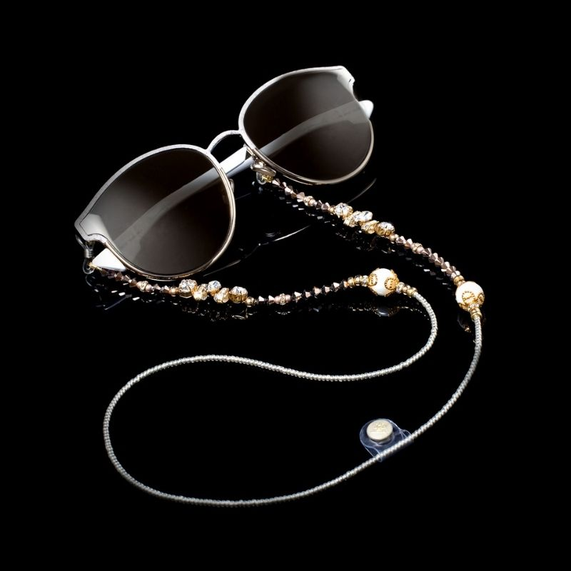 """Glasses Chain """"Clear Crystal"""""""
