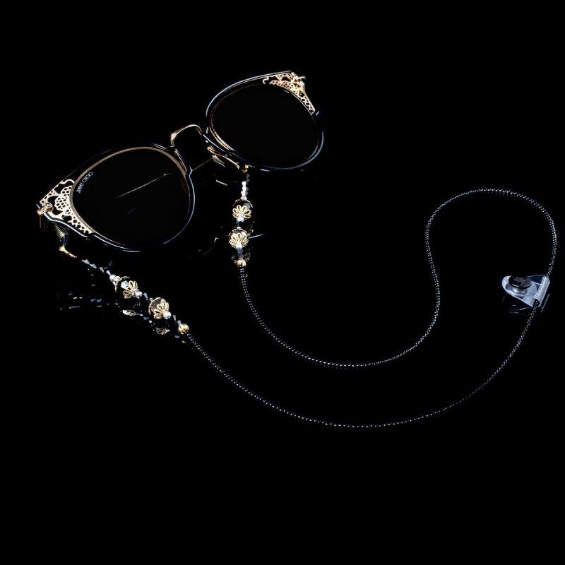 "Glasses Chain ""Black Minimalism"""