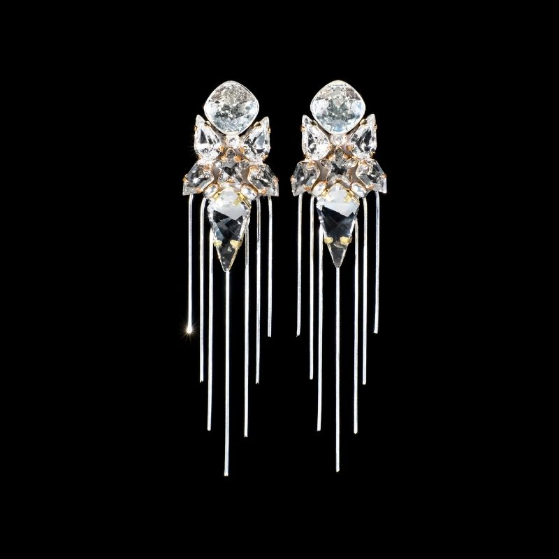 """Earrings """"Ice Drops With Chains"""""""